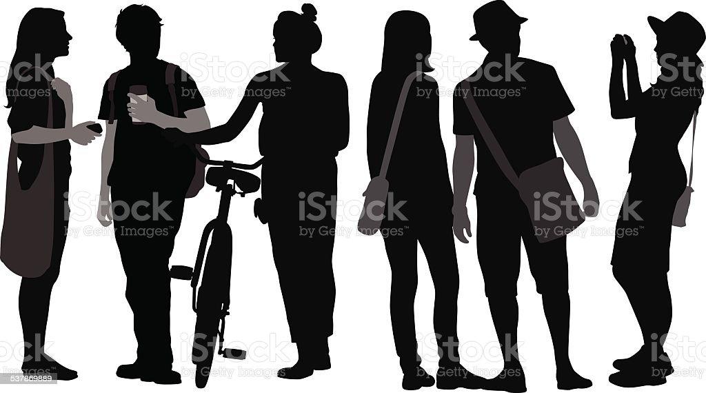 CollegeSocial vector art illustration