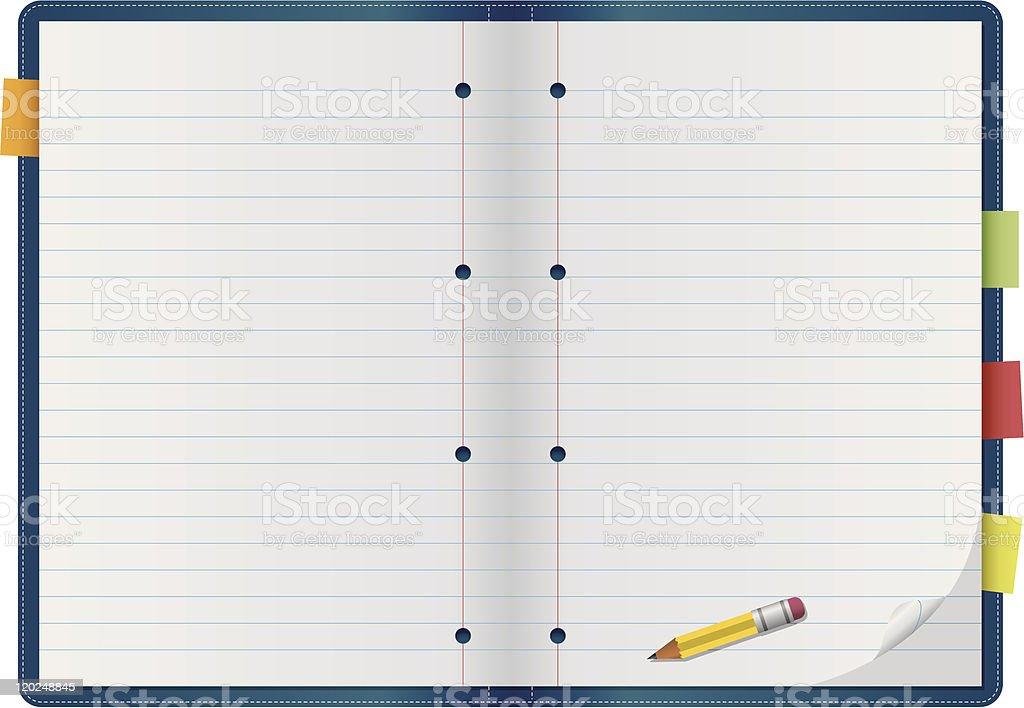 Collegiate Notebook royalty-free stock vector art