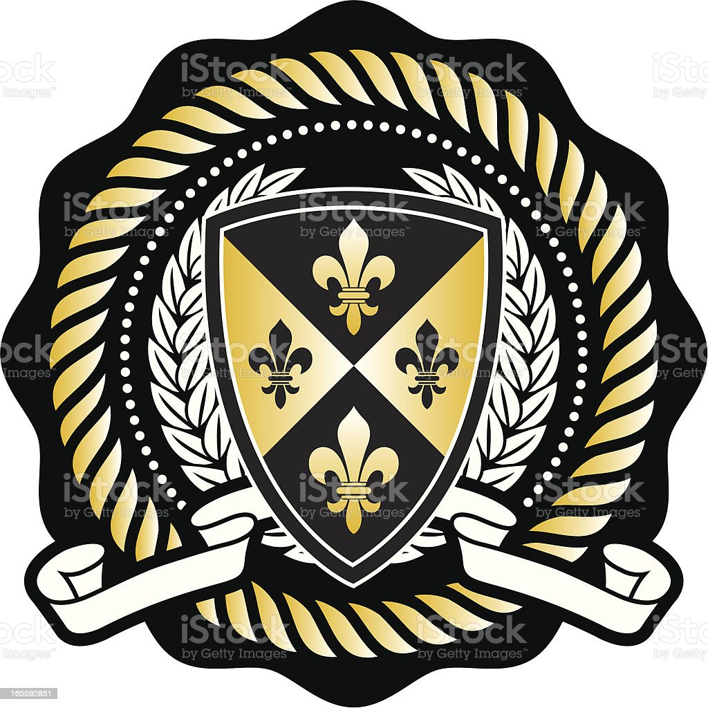Collegiate seal vector art illustration