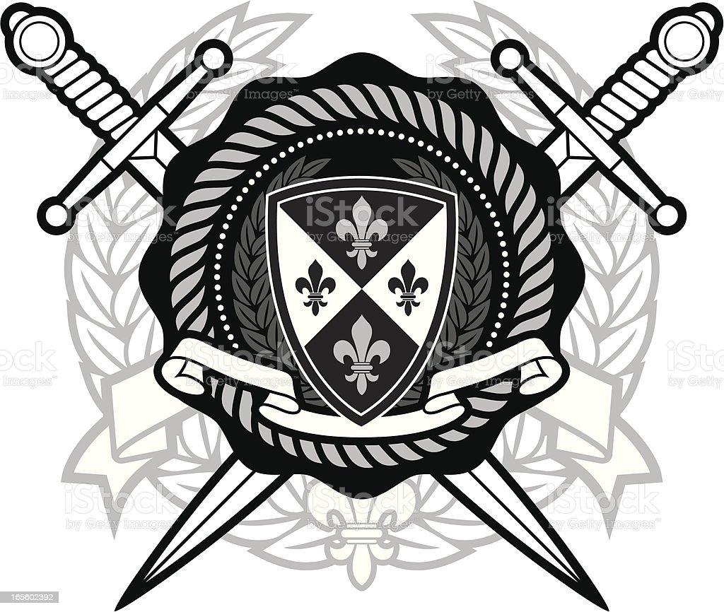 Collegiate seal royalty-free stock vector art