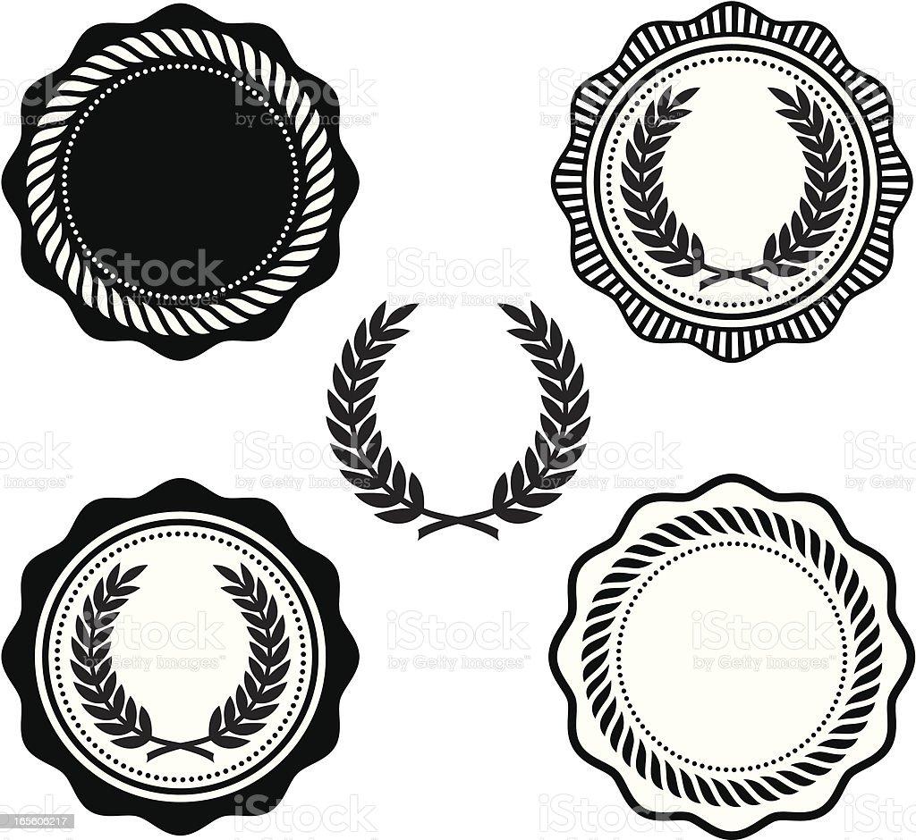 Collegiate seals vector art illustration