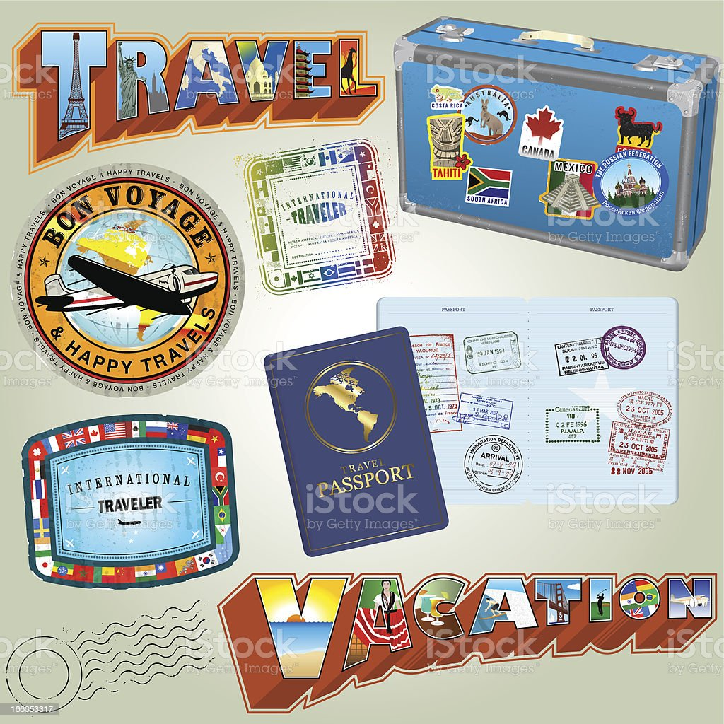 Colmplete Travel Collection vector art illustration