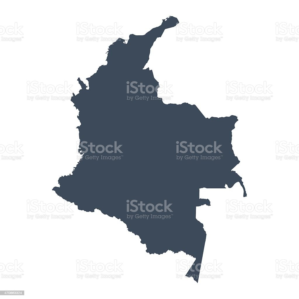 Colombia country map vector art illustration