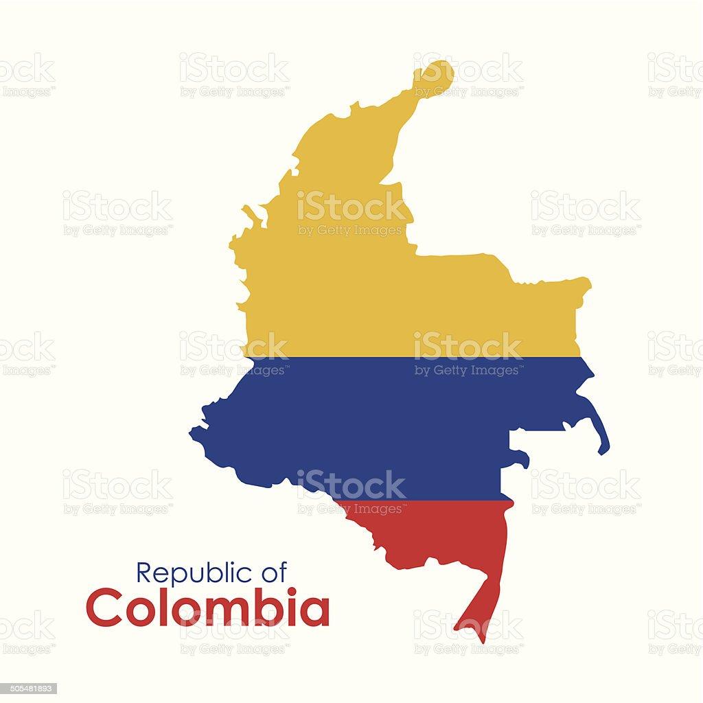 Colombia design vector art illustration