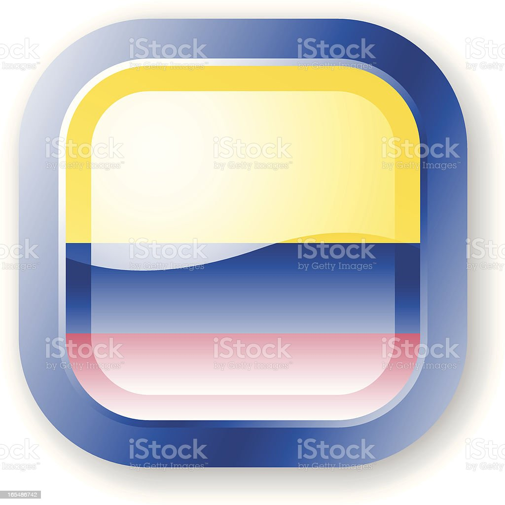Colombia Flag Icon royalty-free stock vector art