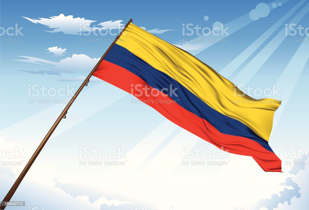 Colombia Flag royalty-free stock vector art