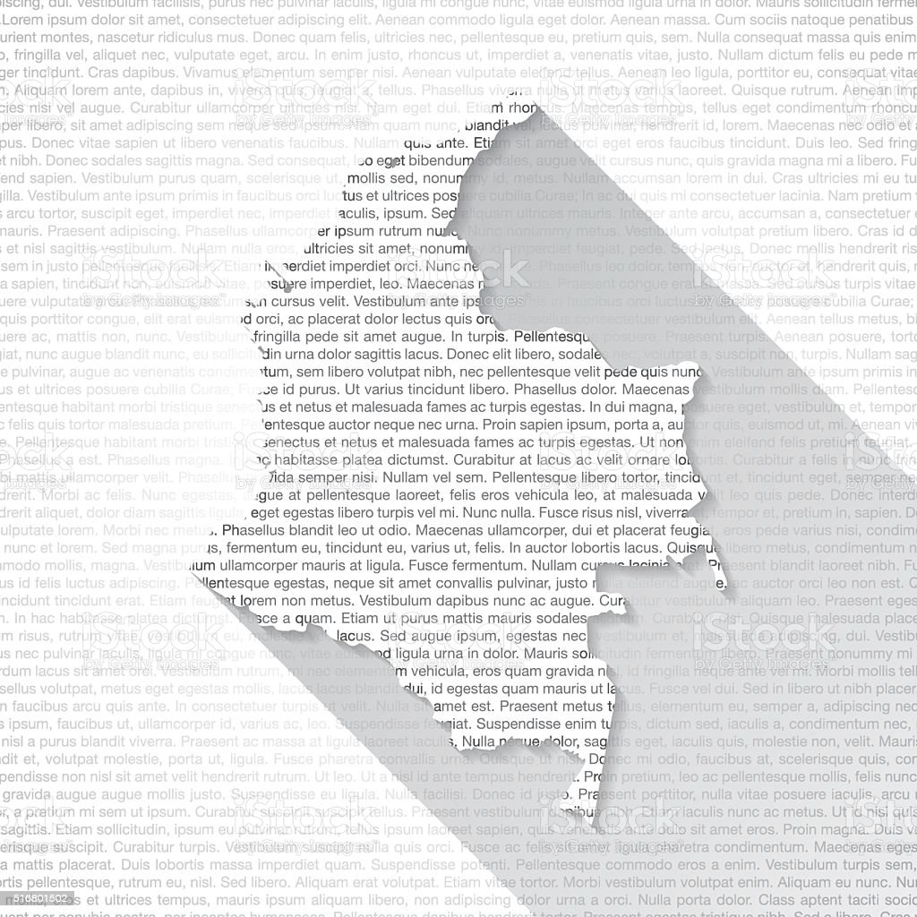 Colombia Map on Text Background - Long Shadow vector art illustration