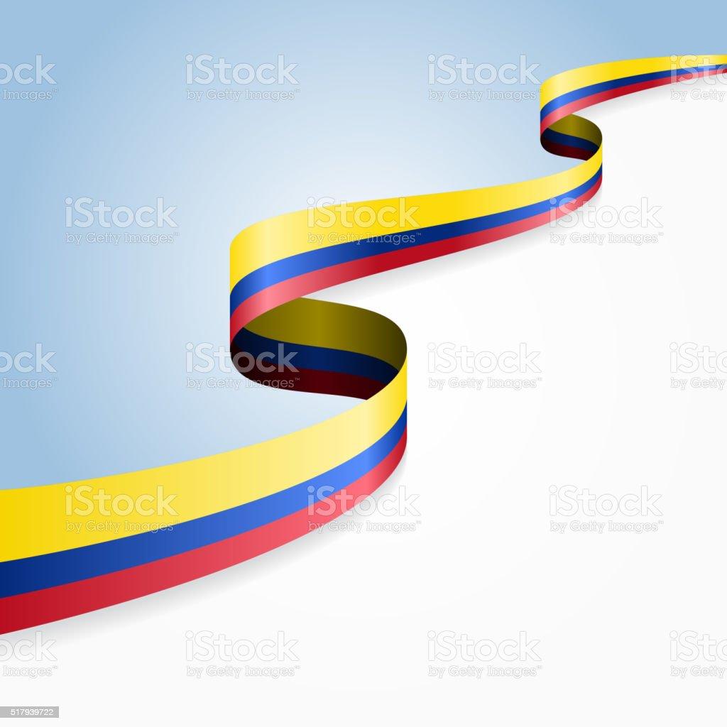Colombian flag background. Vector illustration vector art illustration