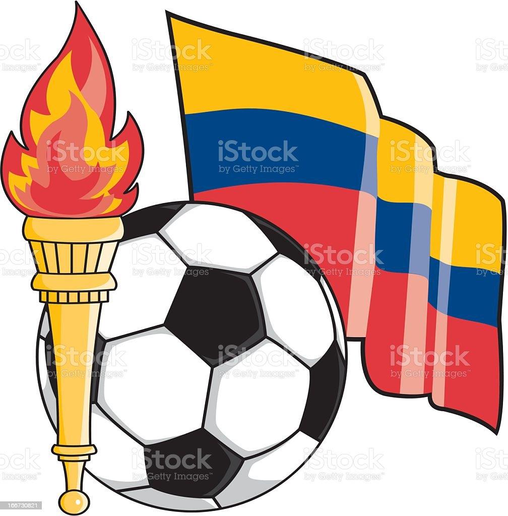 Colombian Soccer Emblem royalty-free stock vector art