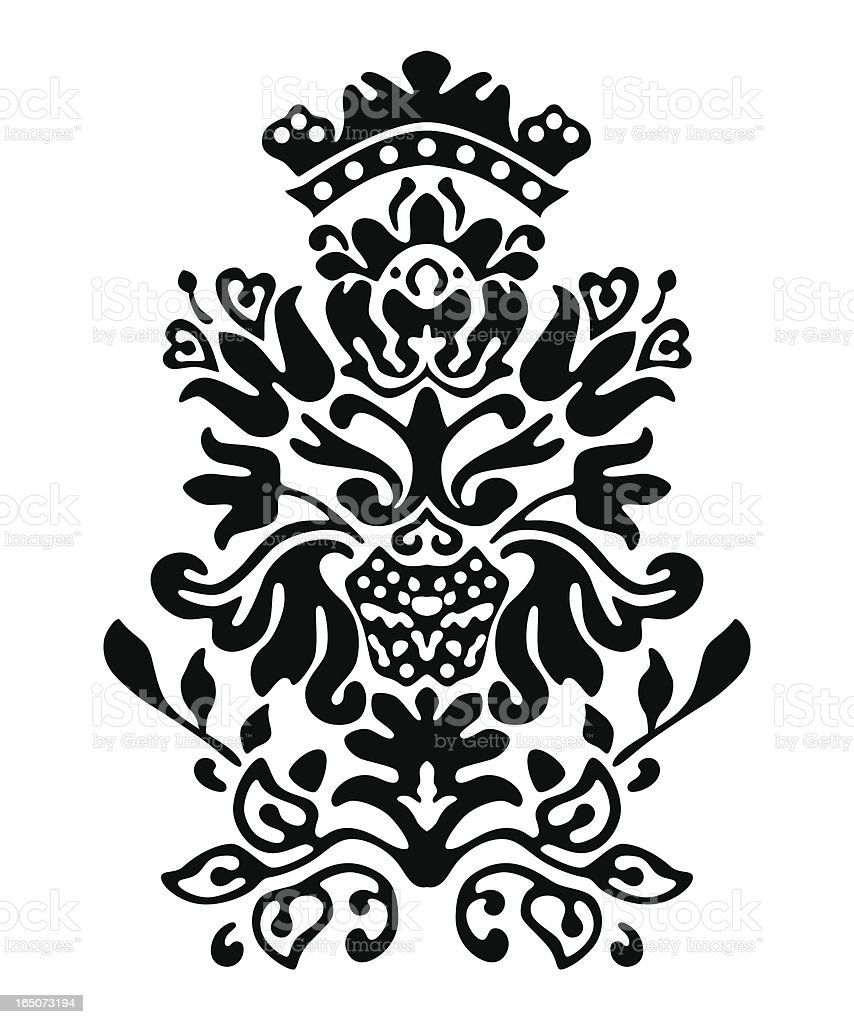 Colonial Motif Vector vector art illustration