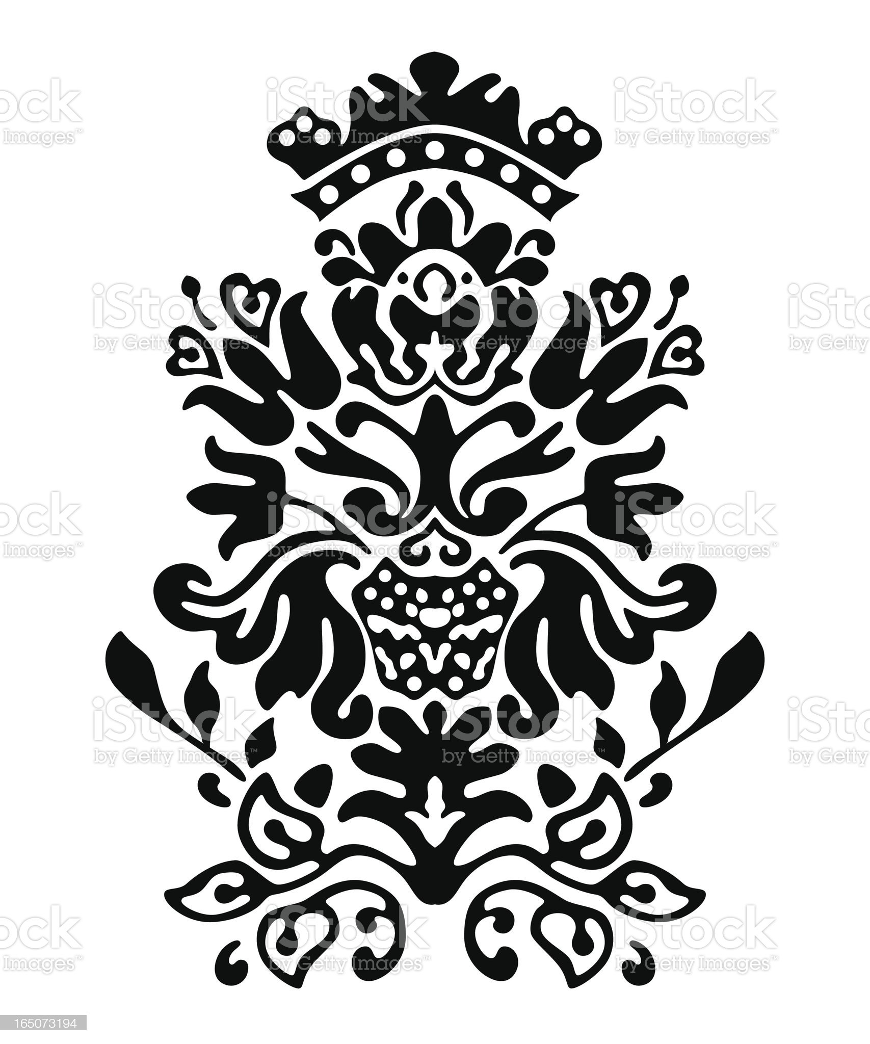 Colonial Motif Vector royalty-free stock vector art