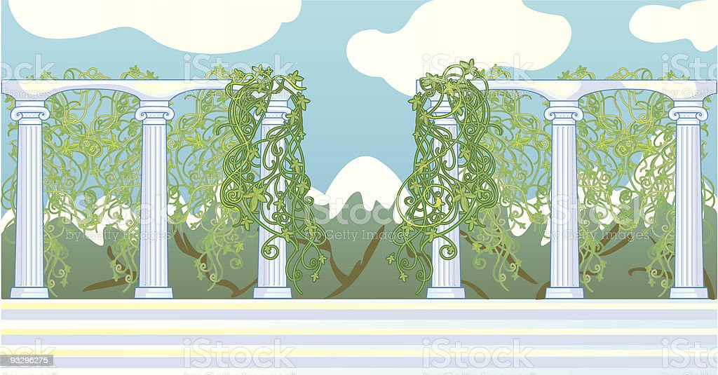 colonnade vector art illustration