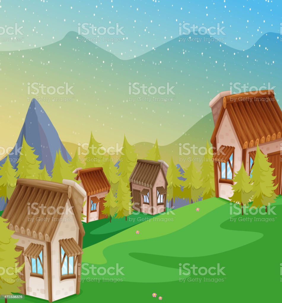 Colony of houses royalty-free stock vector art