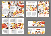 Color abstract brochure template