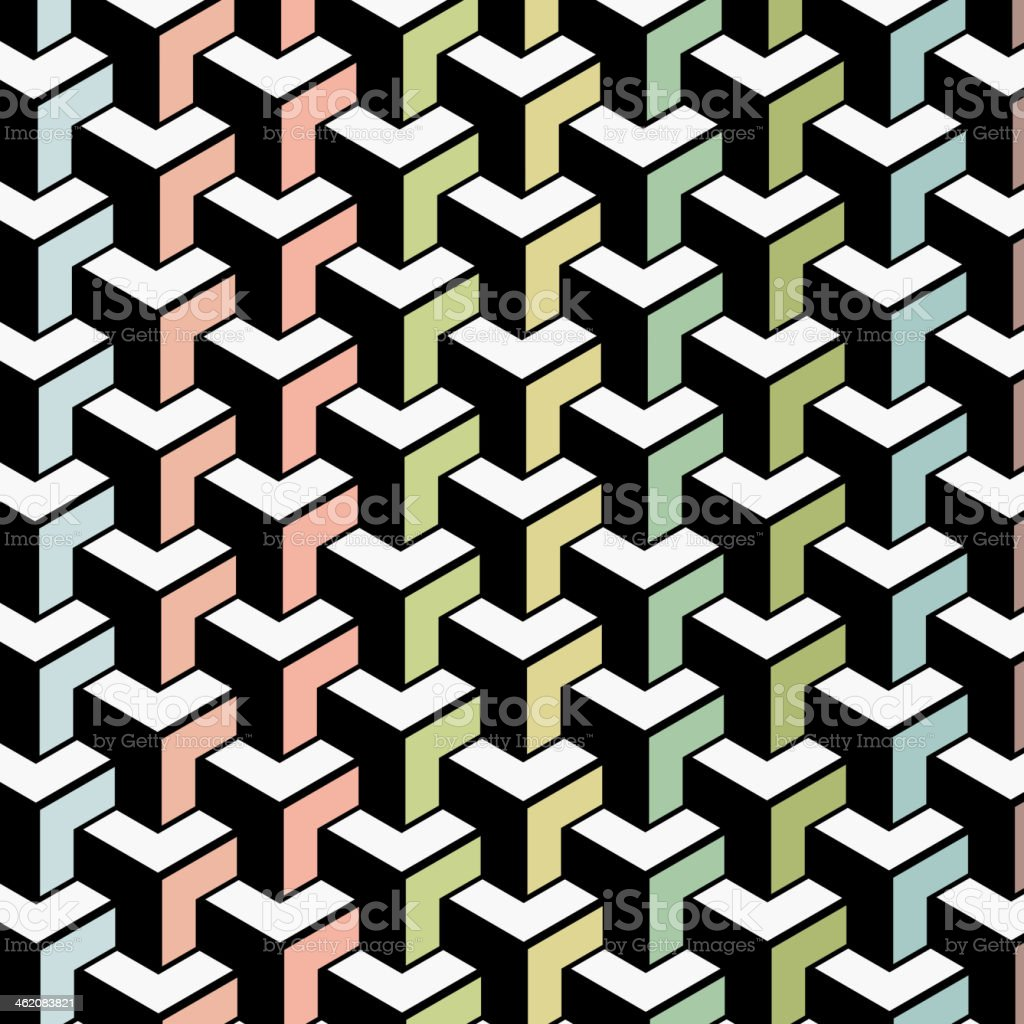 color abstract geometry shape background vector art illustration