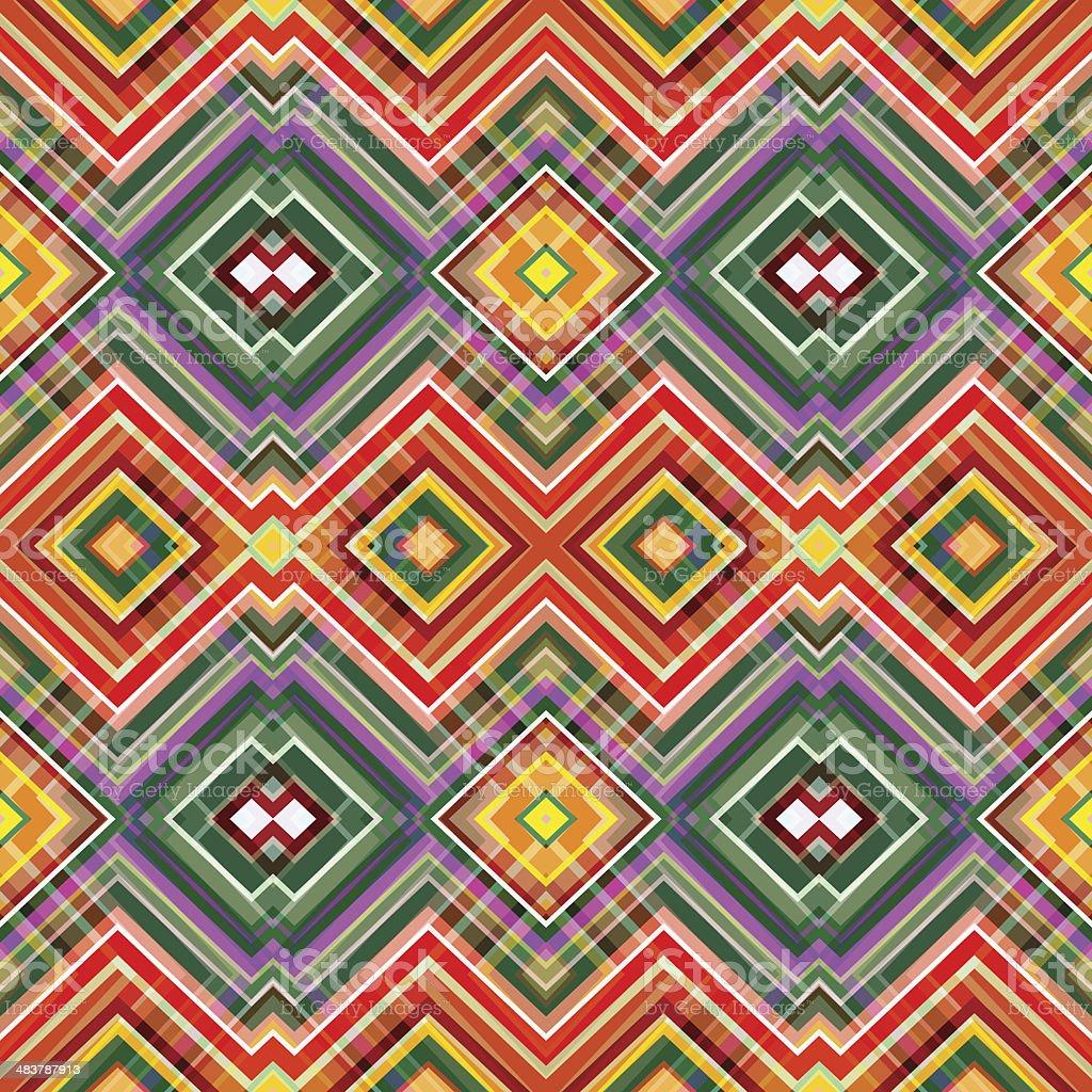 Color Abstract Retro Zigzag Vector Background vector art illustration