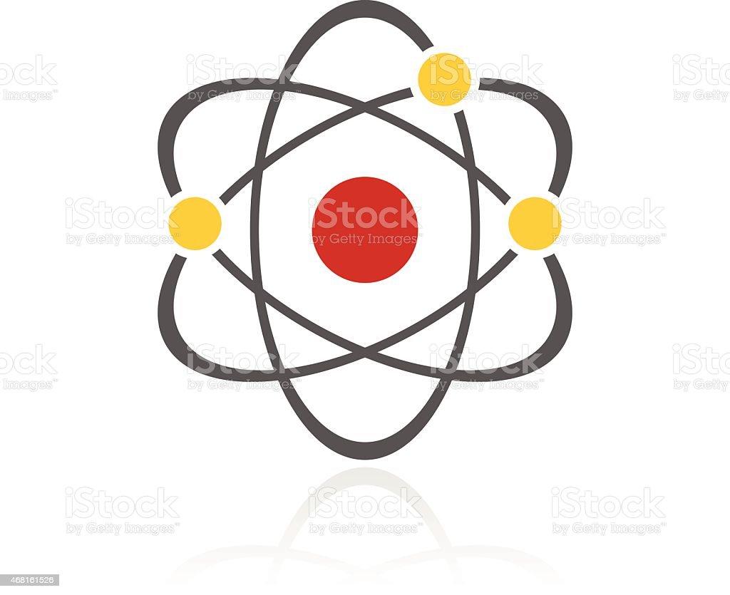 Color Atom icon vector art illustration