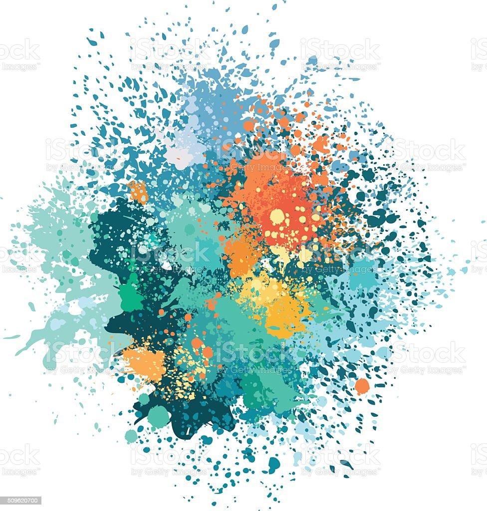 Color background of paint splashes vector art illustration