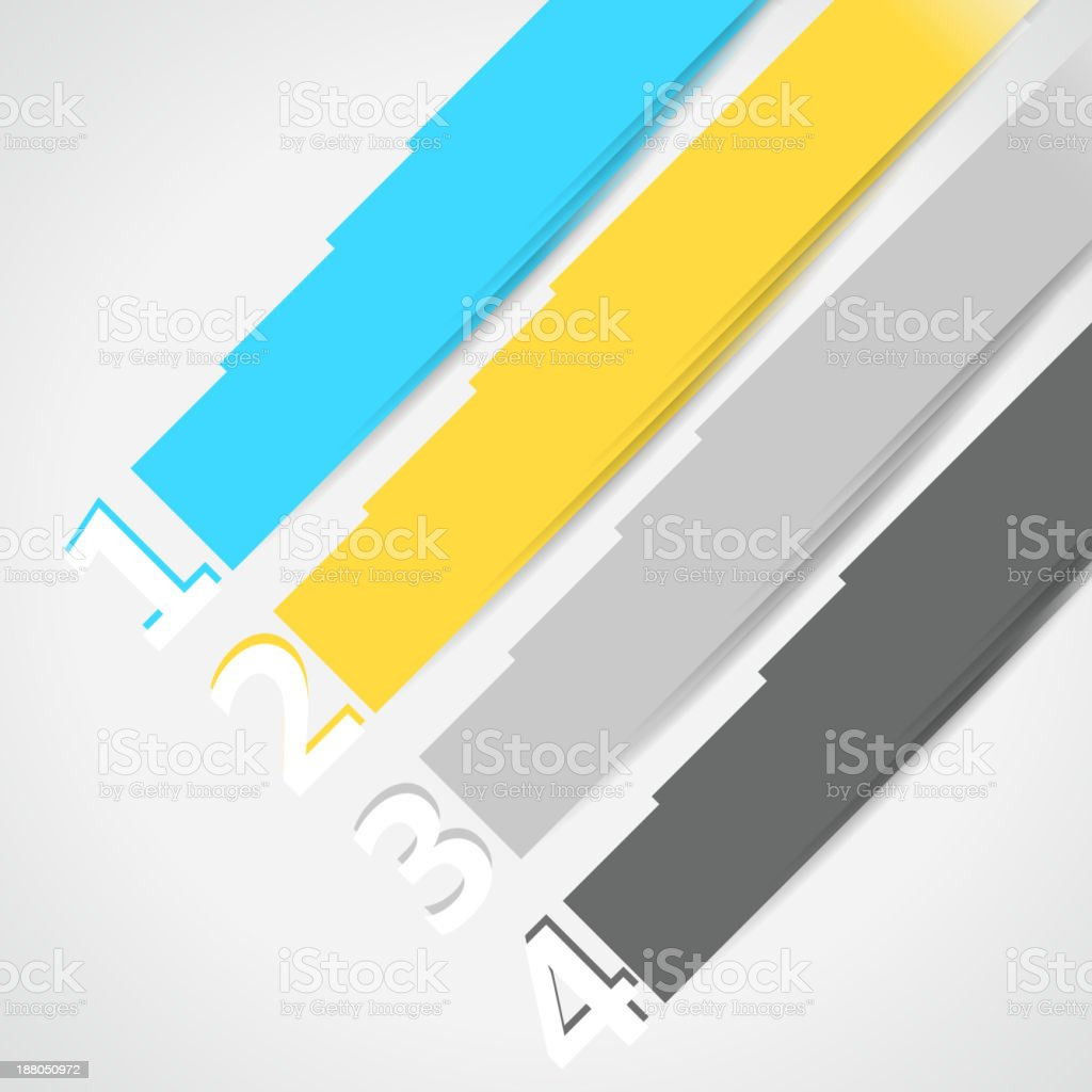 color banner with number background royalty-free stock vector art