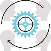 Color box icon, customer retenton concept illustration