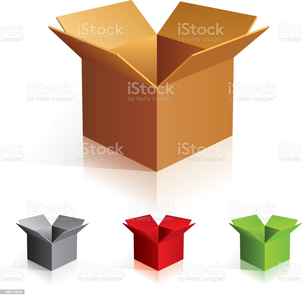 Color boxes vector art illustration