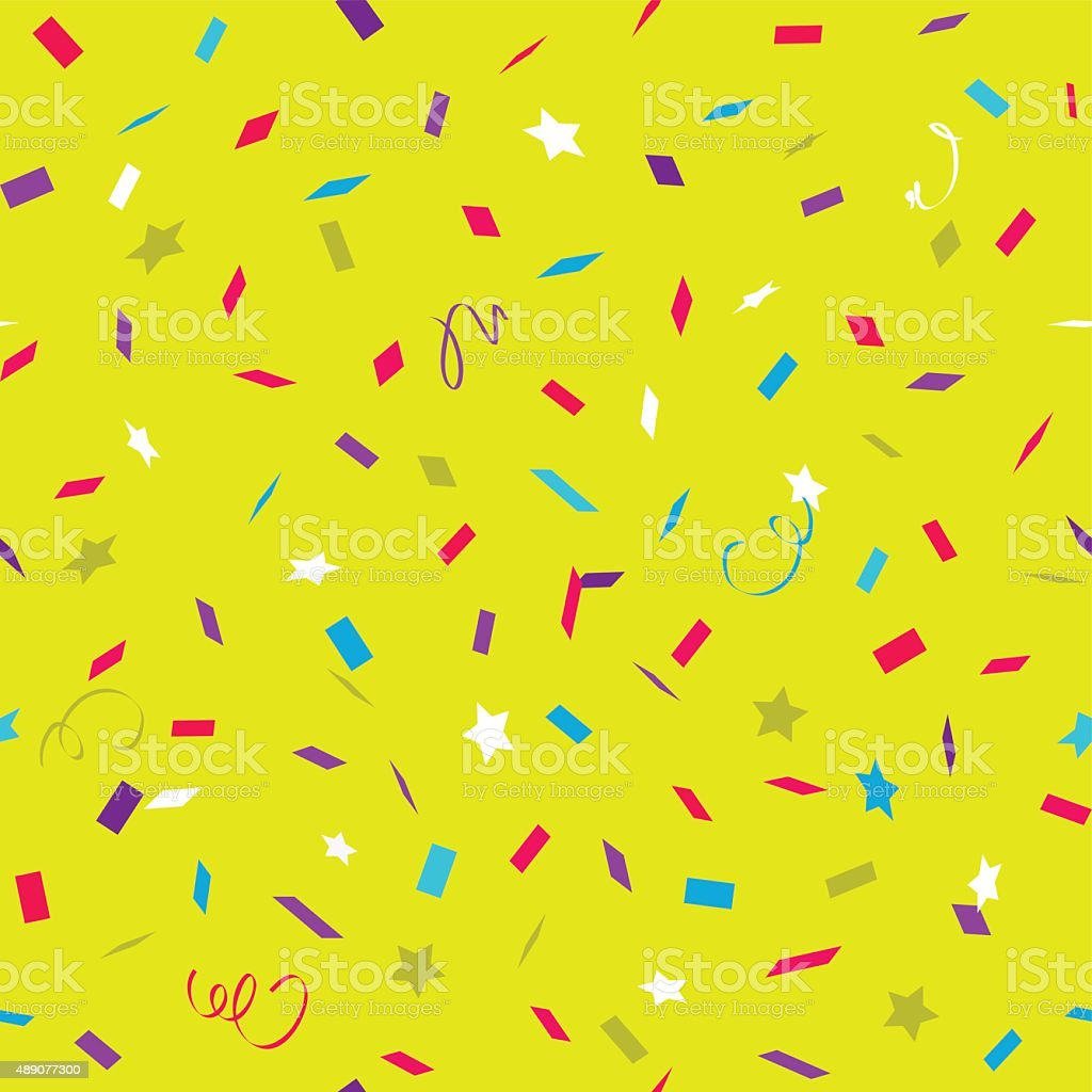 Color bright pattern with flying graphic elements. vector art illustration