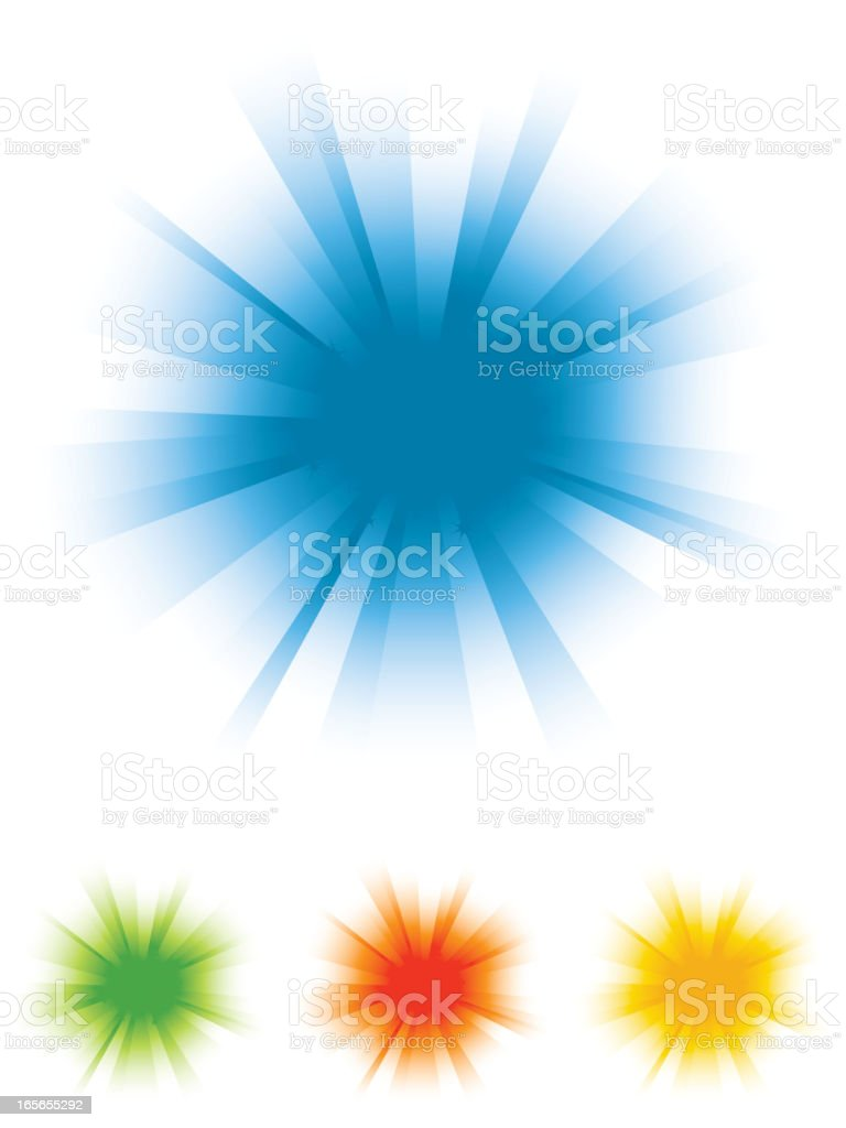 Color Burst Background Set royalty-free stock vector art