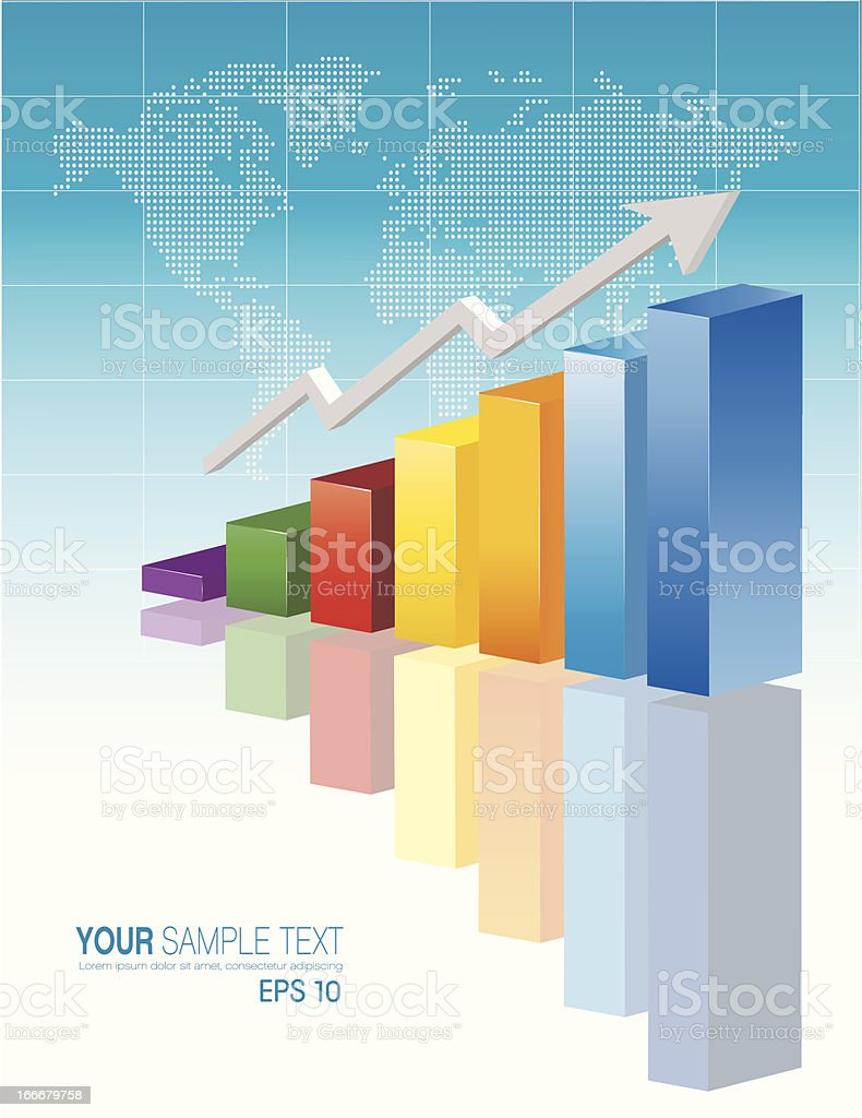 Color Business Chart royalty-free stock vector art