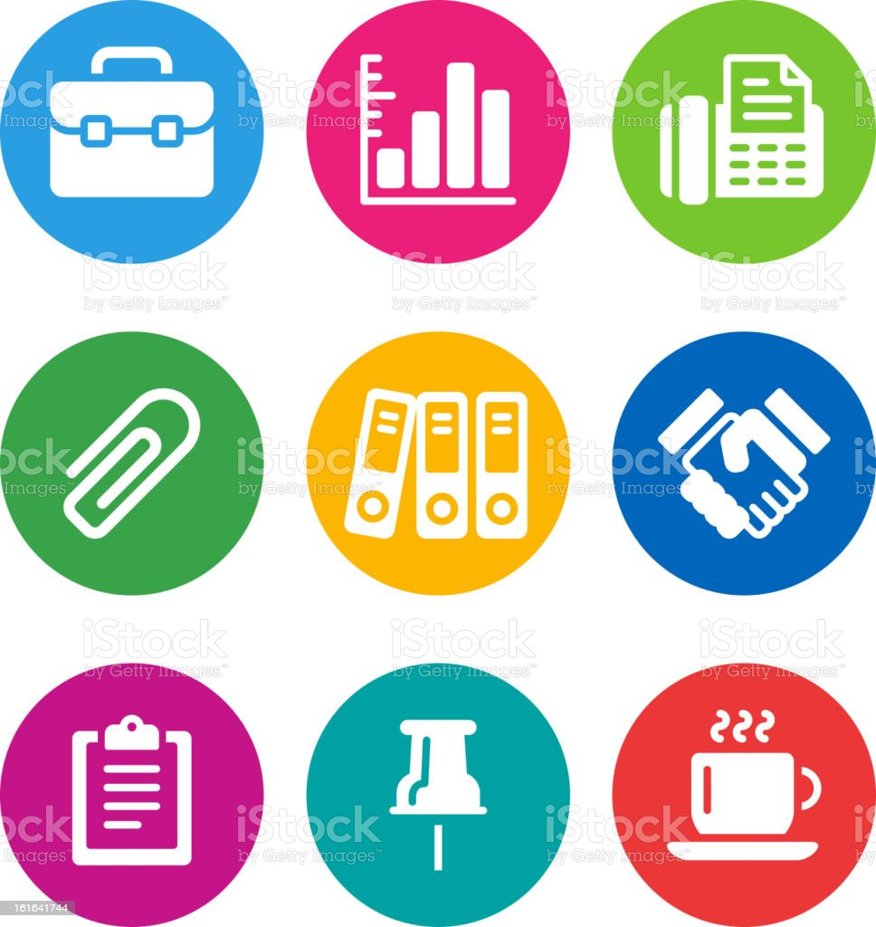 color business icons royalty-free stock vector art