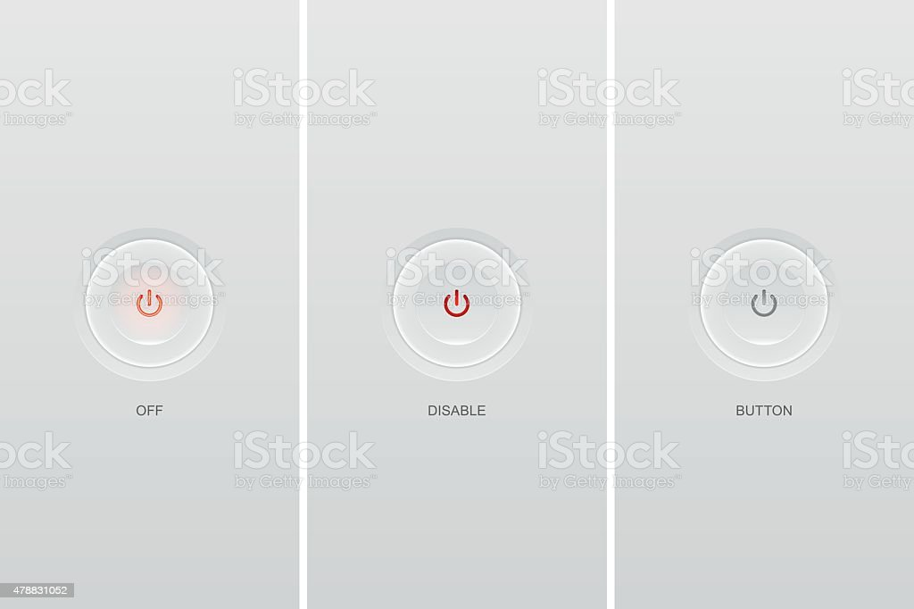 Color buttons icons vector art illustration