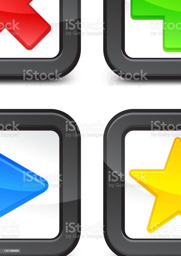 Color checkmark royalty-free stock vector art