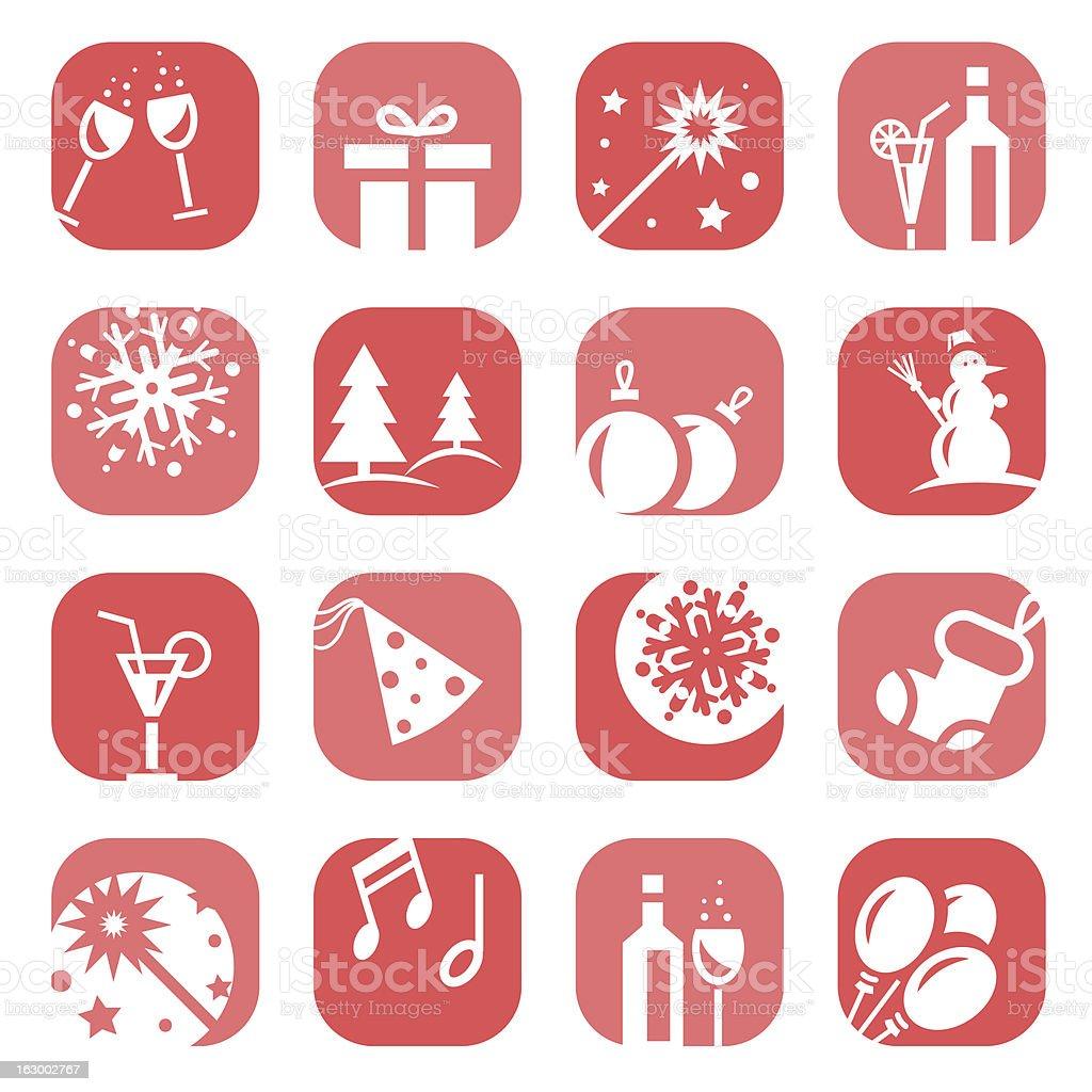 color christmas icon set royalty-free stock vector art