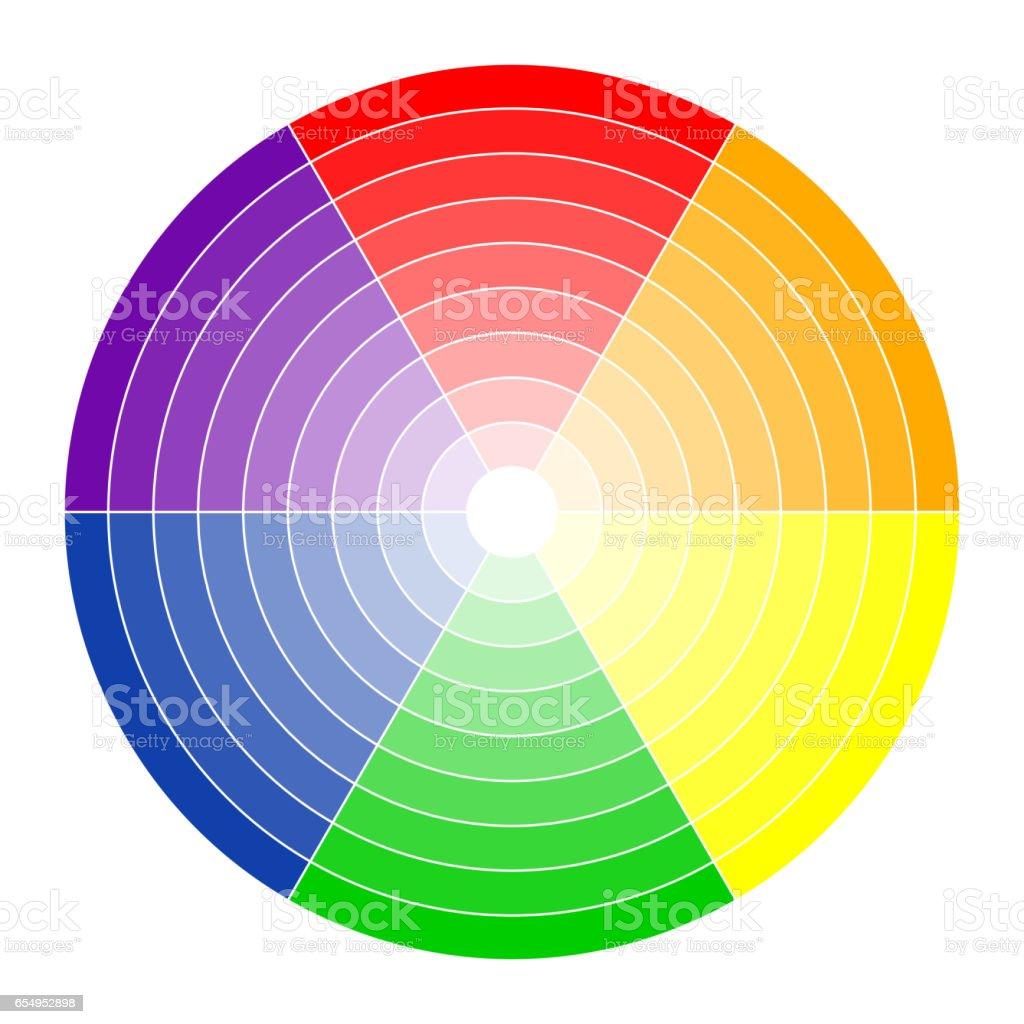 Color circle 6 colors vector art illustration