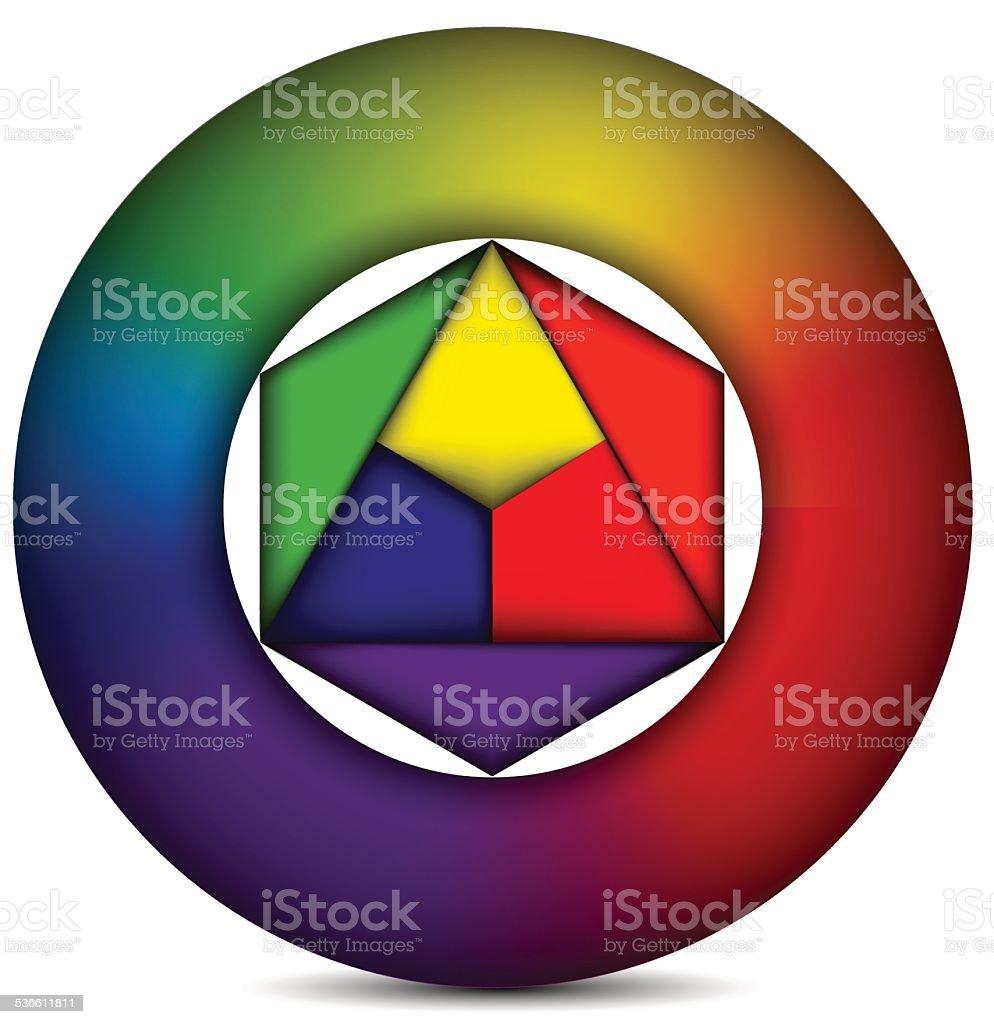 Cercle de couleur stock vecteur libres de droits libre de droits
