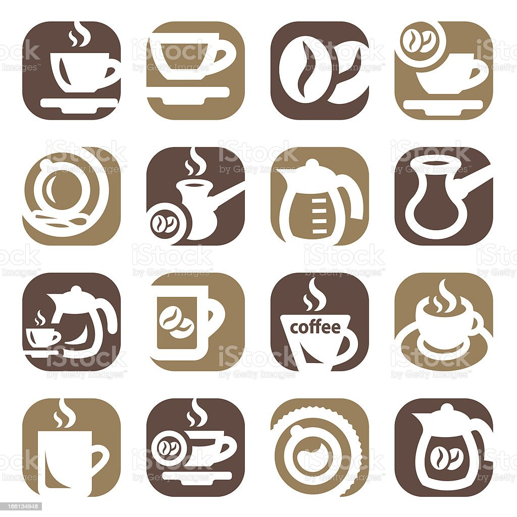 color coffee icin set royalty-free stock vector art