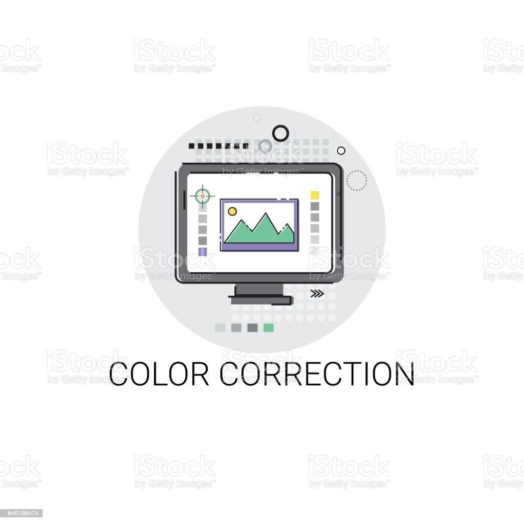 Color Correction Camera Film Production Industry Icon vector art illustration