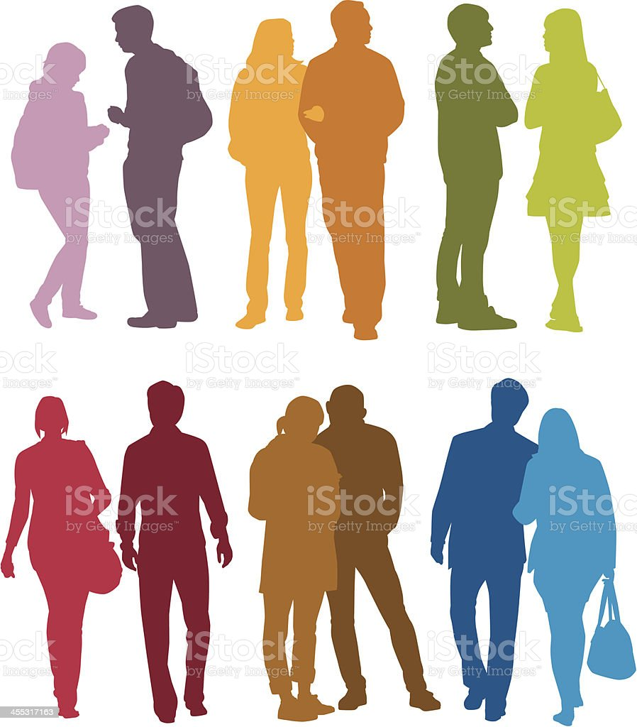 Color Couples royalty-free stock vector art