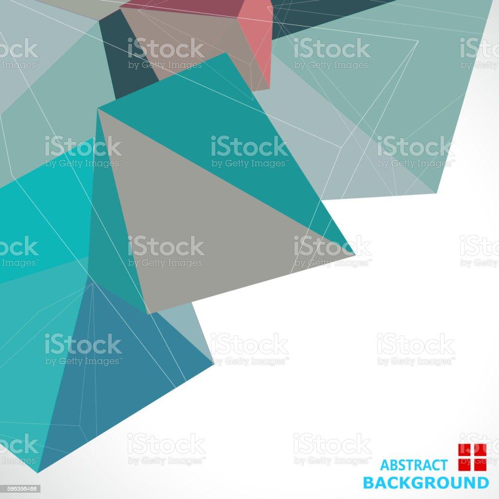 color cube pattern vector art illustration
