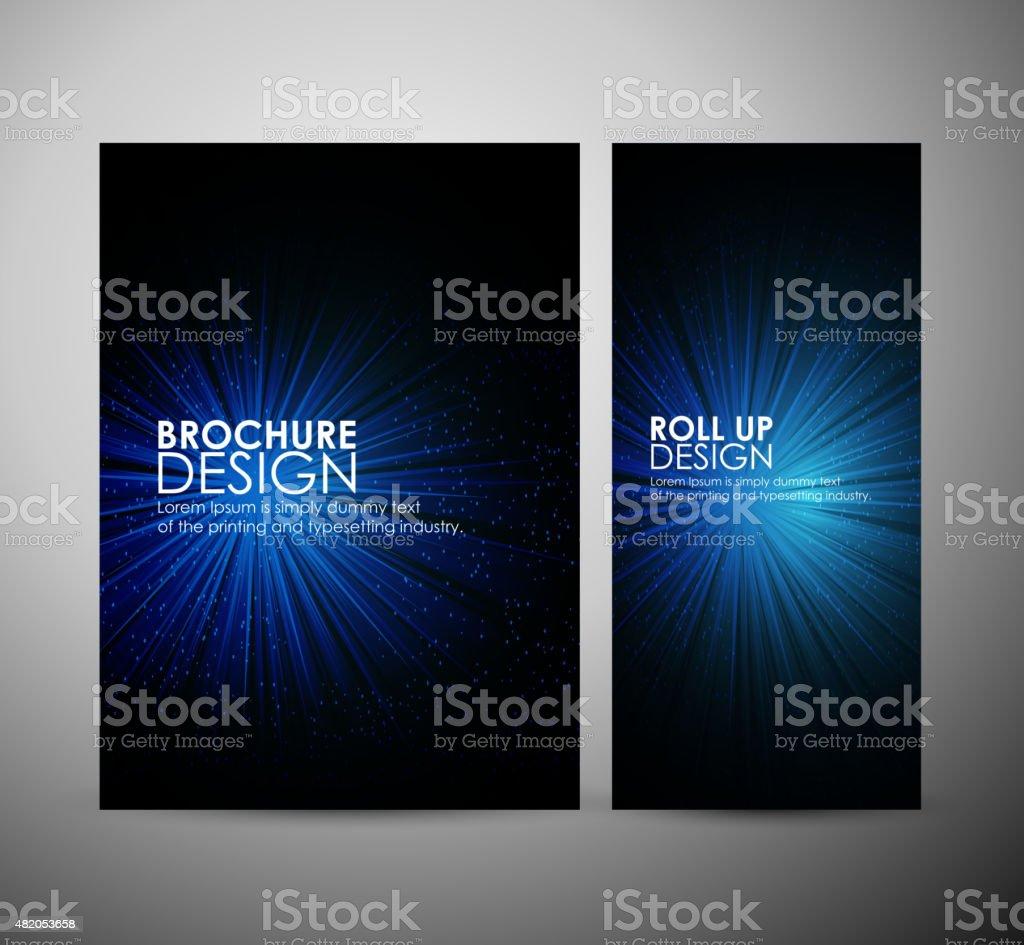 Color design with a burst. Brochure business or roll up. vector art illustration