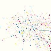 Color Digital Branch Connection Pattern Square