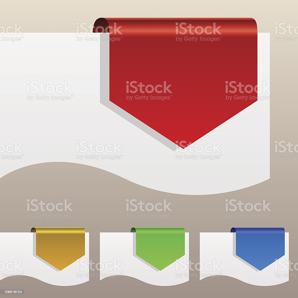 Color discount labels royalty-free stock vector art