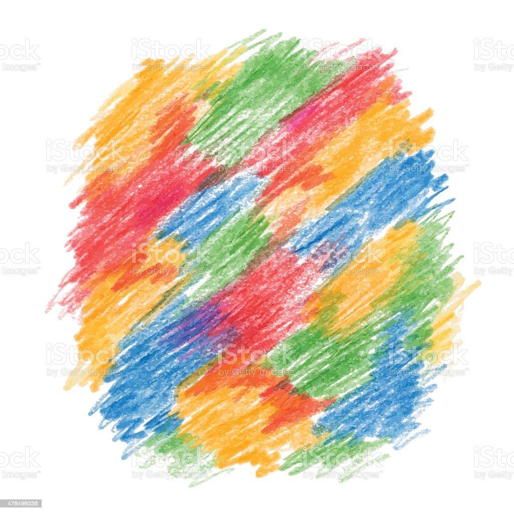 Color drawn background vector art illustration