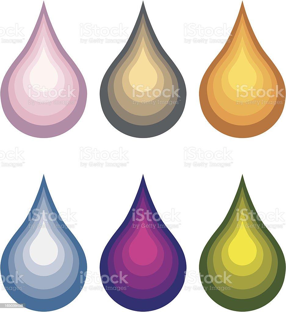 Color Drops (Vector) royalty-free stock vector art