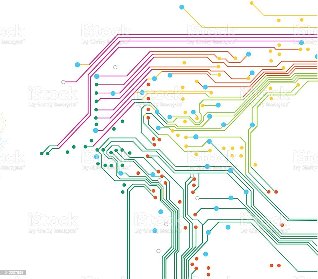 Color Electric Background vector art illustration