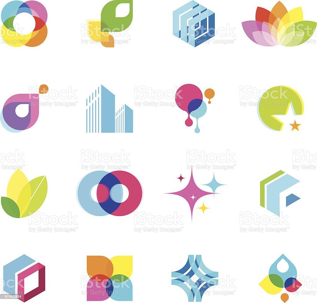 Color elements | Set 01 vector art illustration