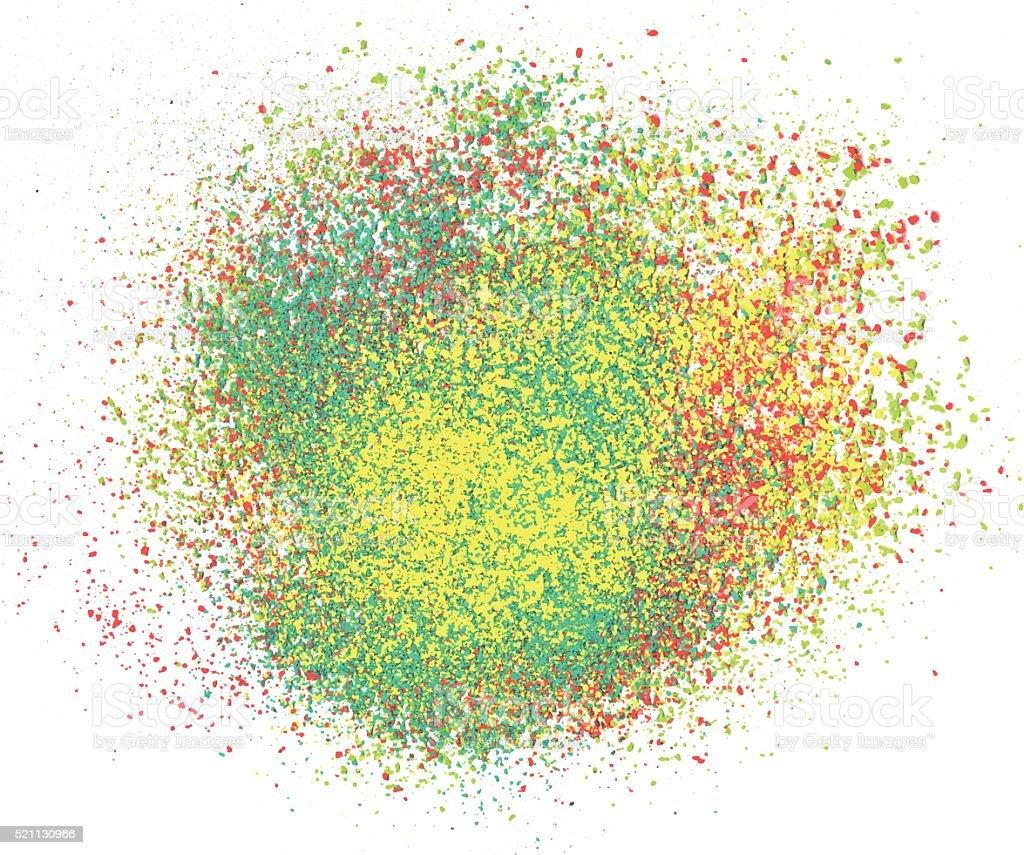 Color explosion vector art illustration