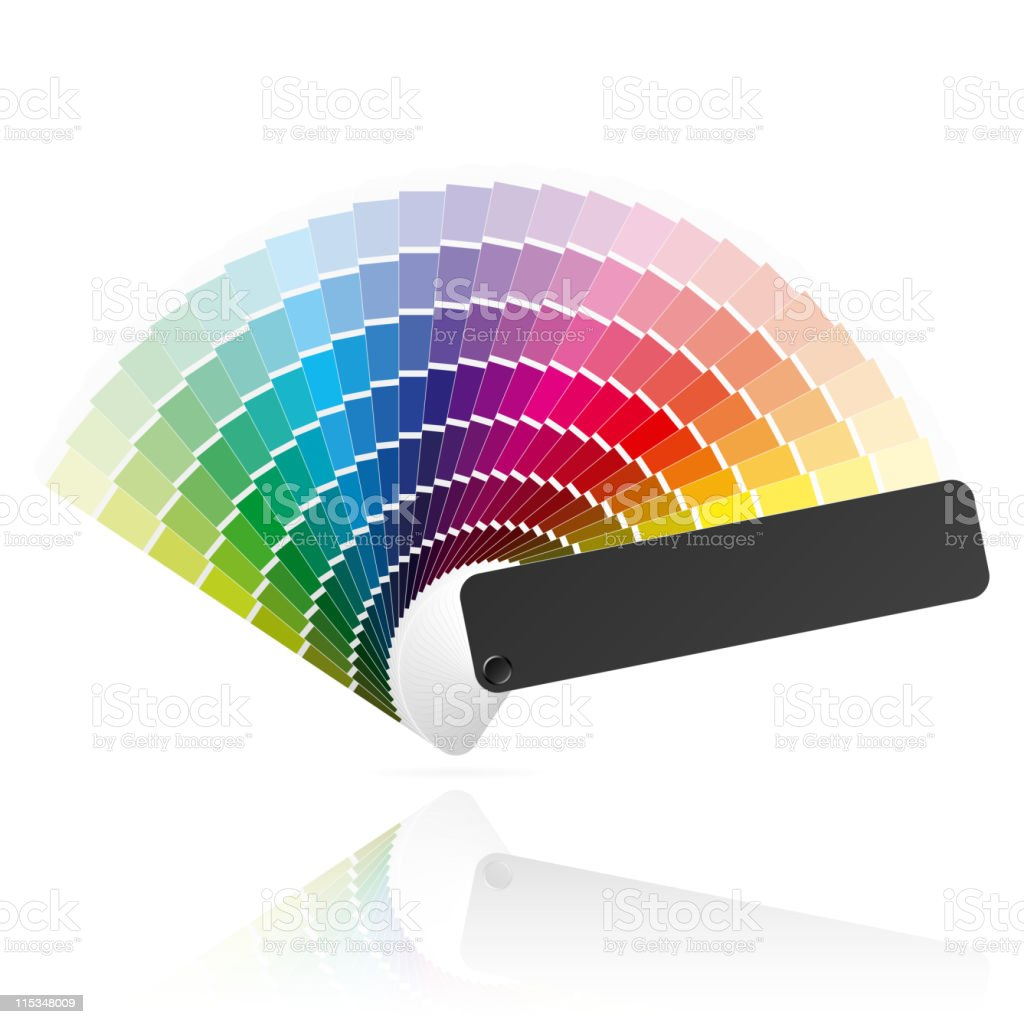Color fan royalty-free stock vector art