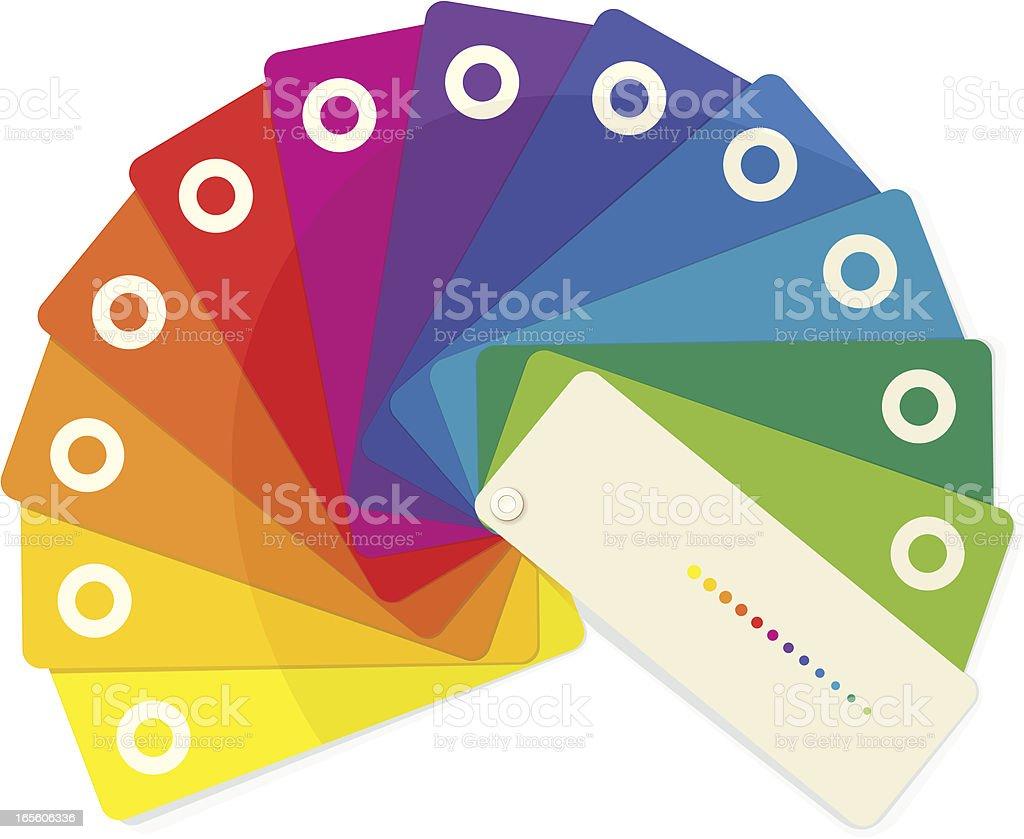 Color Fan vector art illustration