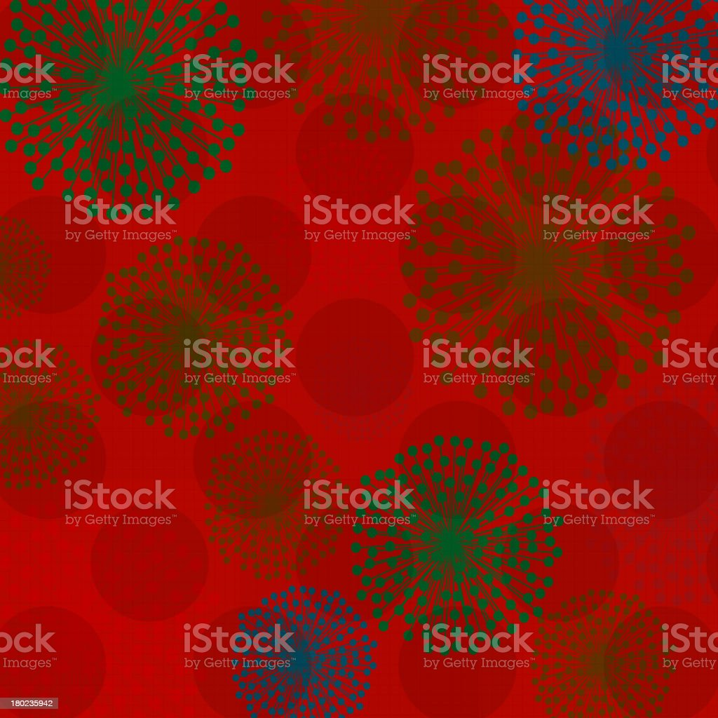 color fireworks with red background royalty-free stock vector art