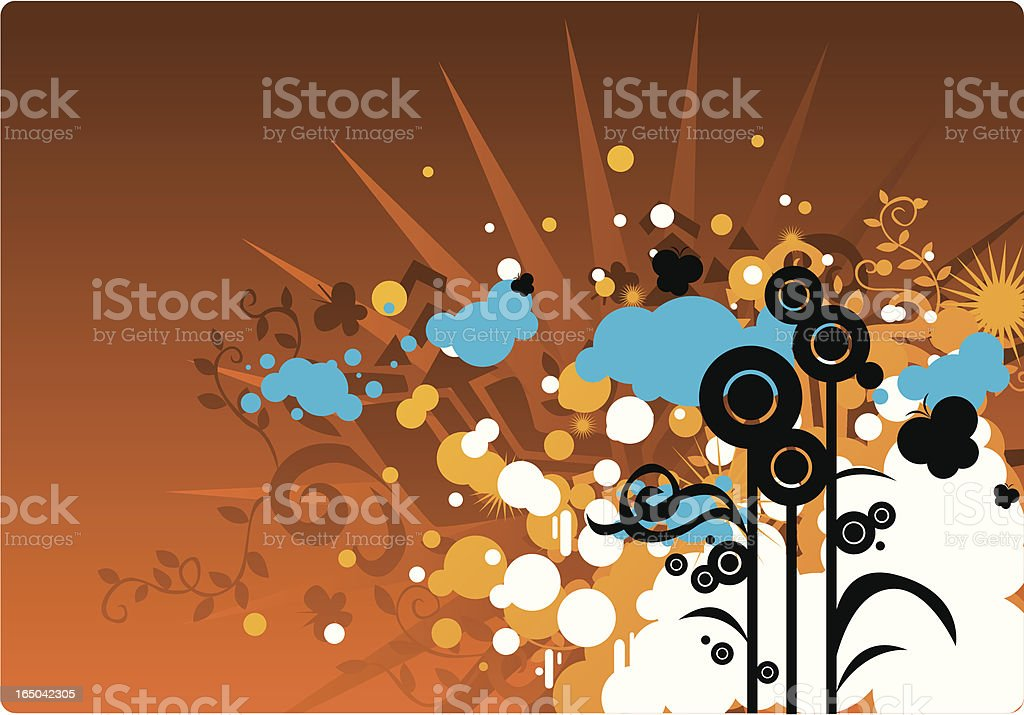 Color flower design royalty-free stock vector art